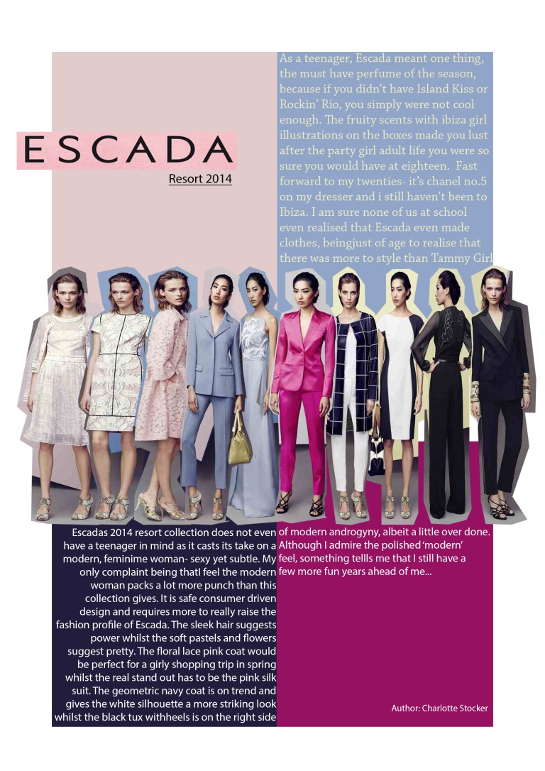 Escada: 2014 Resort Collection